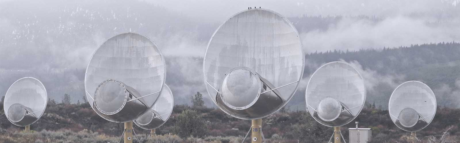Allen Telescope Array used by the Search for Extraterrestrial Intelligence project in Hat Creek, California